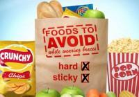 矯正治療中に避けたい硬い食べ物