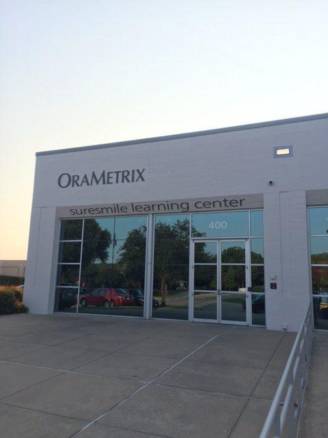 オーラメトリックス本社のエントランス
